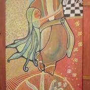 Saint Francis of Assisi, 30x70cm. Acrylic Canvas. Vendido.