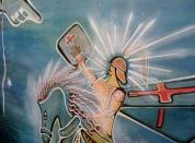 São Jorge, 110x80cm. Acrylic Canvas. Vendido.