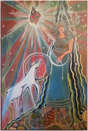 Pregnancy Mary, 120x80cm. Acrylic Canvas. R$ 1500,00