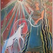 Pregnancy Mary, 120x80cm. Acrylic Canvas. R$ 1500,00
