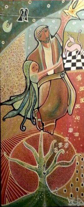 São Francisco, 120x50cm. Acrylic Canvas. Vendido.