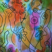 Nu Paraíso. ooxoocm. Acrylic Canvas. Vendido.