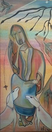 Bom Pastor, 135x70. Acrylic Canvas. R$ 1500,00. LOJA VIRTUAL