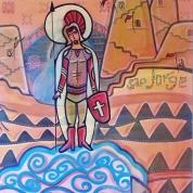 St George/São Jorge, 120x100. Acrylic Canvas