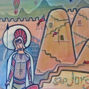St George/São Jorge, 120x100. Acrylic Canvas. Vendido.