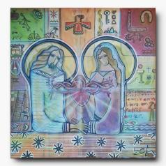 Sagrado Coração Jesus e Maria, 75x75. R$ 1500,00.