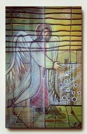 Anjo na varanda, 80x50cm.