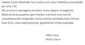 Helio Faria, dizeres