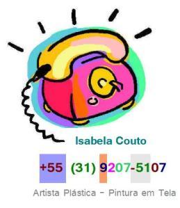 LOGO, TELEFONE CONTATO PARA O SITE LA ART B